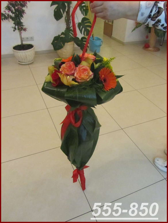 Оригинальный букет из цветов своими руками 31